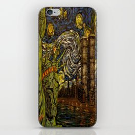 NYC Starry Night: Twin Towers (The True Towers) iPhone Skin