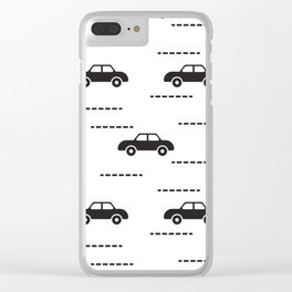 Black automobile road pattern Clear iPhone Case