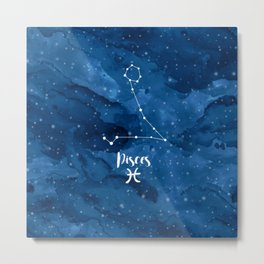 Pisces constellation Metal Print