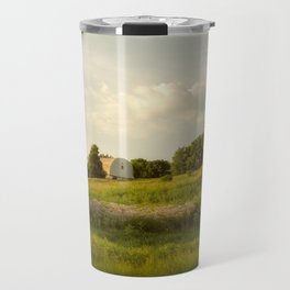 Rural / Farmhouse Landscape Photo Remnant of Better Days - Nature - Country - Meadow Travel Mug