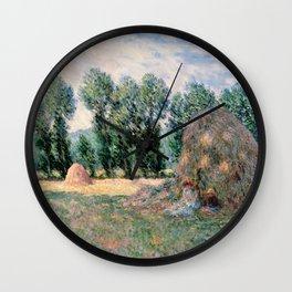 Haystacks Wall Clock