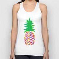 pineapple Tank Tops featuring Pineapple by Lindsay Milgrim