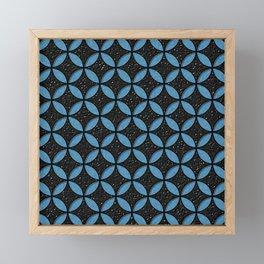 Leather and Denim Circles Framed Mini Art Print