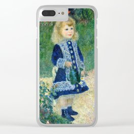 Auguste Renoir - A Girl With A Watering Can (1876) Clear iPhone Case
