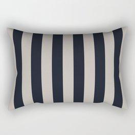 Vertical Stripes Black & Warm Gray Rectangular Pillow