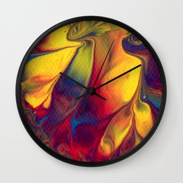 Paint Pouring 14 Wall Clock