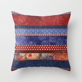 Oxford Patchwork Stripe Throw Pillow
