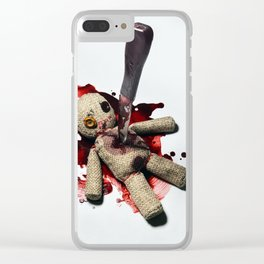 Sack Voodoo doll and bloody knife Clear iPhone Case