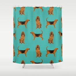 Bloodhound dog breed pet pattern hounds dog portrait bloodhounds gifts Shower Curtain
