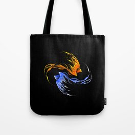 Phoenix Ice And Fire Tote Bag