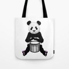 Panda Drummer Tote Bag