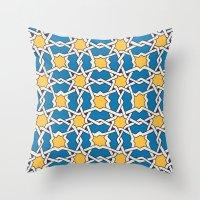 morocco Throw Pillows featuring Morocco ornament by Galina Khabarova