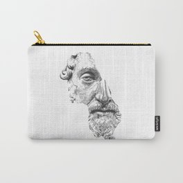 MARCUS AURELIUS ANTONINUS AUGUSTUS / black / white Carry-All Pouch