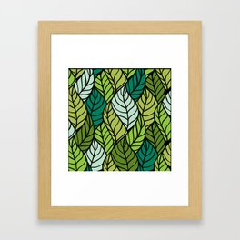 Flowing Leaves Framed Art Print
