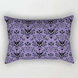 Purple Haunted Mansion Wallpaper Rectangular Pillow
