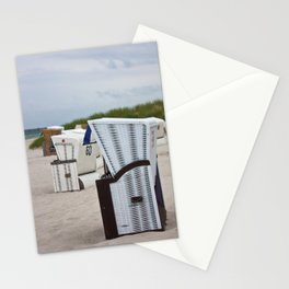 beach chairs on the baltic sea Stationery Cards
