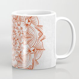 Rust Red Mandala on Japanese Rice Paper Coffee Mug