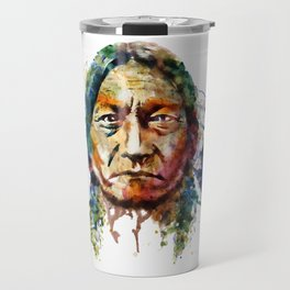 Sitting Bull watercolor painting Travel Mug