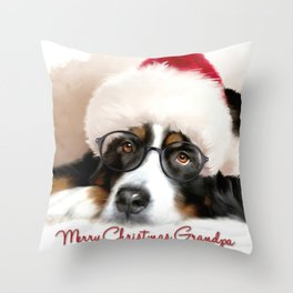 Merry Christmas Grandpa Throw Pillow