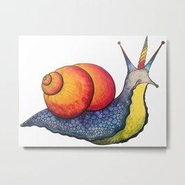 Snailicorn Metal Print