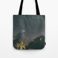 home alone Tote Bags featuring Home alone by Gediminas Bartuska