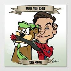 Mute Yogi Bear (Tobey Maguire) Canvas Print