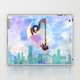Harp girl 2: Music at night Laptop & iPad Skin