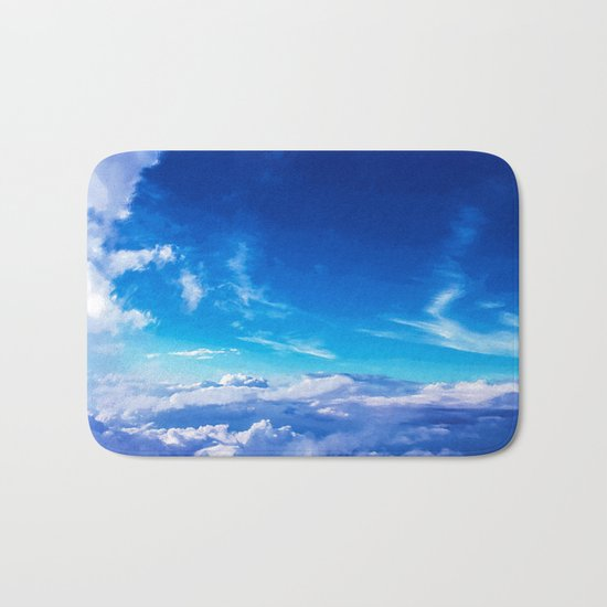 Above the clouds sky is always blue Bath Mat
