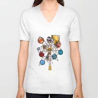 venus V-neck T-shirts featuring Venus by Natalie Easton