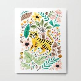 Tiger Jungle Metal Print