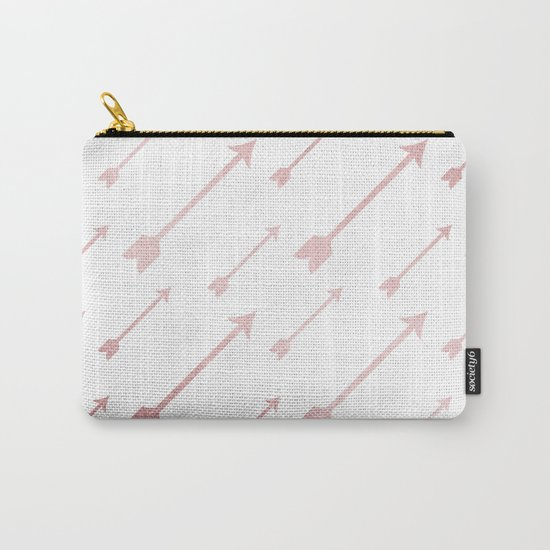 Simply Adventure Arrows in Rose Gold Sunset Carry-All Pouch