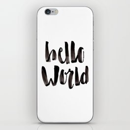 Hello World - Hand Lettering iPhone Skin