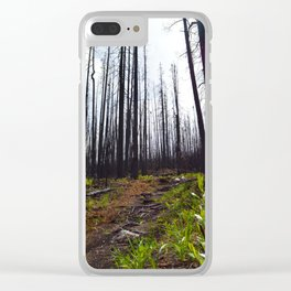 Excelsior Wildfire in the Maligne Valley, Jasper National Park, CA Clear iPhone Case