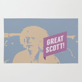 Great Scott! Back to The Future Rug