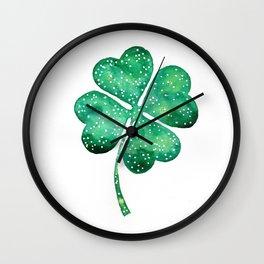 4 leaf clover Wall Clock