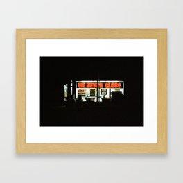 We Never Close Framed Art Print