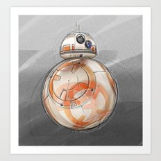 BB8 - on the move Art Print