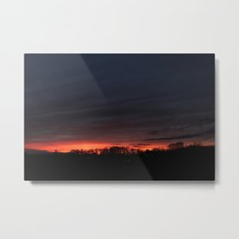 Another Midwestern Sunset Metal Print