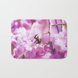Pink Weeping Willow With Bumble Bee Bath Mat