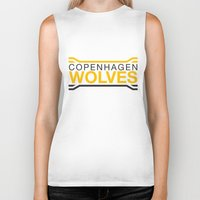 copenhagen Biker Tanks featuring Copenhagen Wolves by Thomas Official