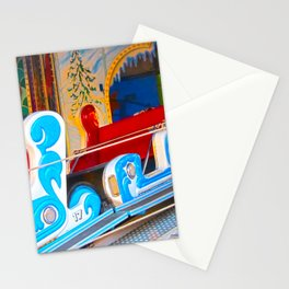 Fast-paced sledging Stationery Cards