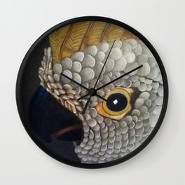 Leather Feather Wall Clock