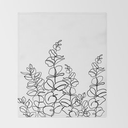 Eucalyptus cinerea - minimal Throw Blanket