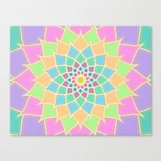 Pastel Lotus Canvas Print
