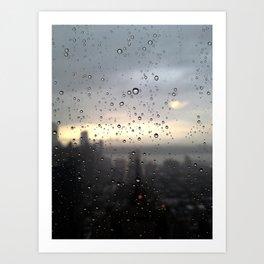 window rain drops Art Print