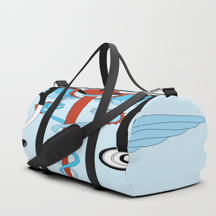medical caduceus and stethoscope Duffle Bag