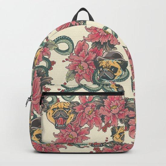 Snake and Pug Backpack
