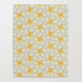 Yellow Flower, Floral Pattern, Yellow Blossom Poster