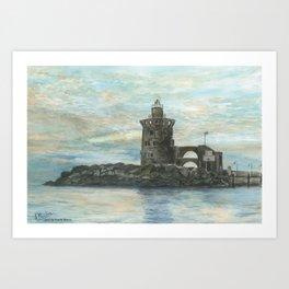 Faro de Puerto Sherry Art Print