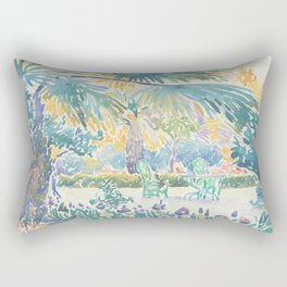 Garden of the Painter at Saint Clair by Henri-Edmond Cross 1908, French Rectangular Pillow